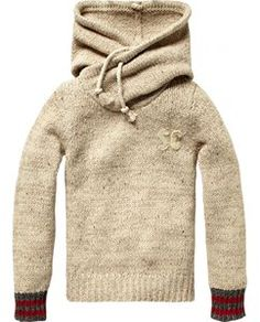 Scotch Shrunk Knitted Hoodie. Wow look at that scarf/hood