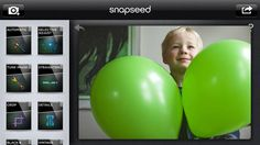 Snapseed photo editing app for iPad  -- we can't live without this app!