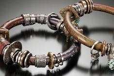 Bracelets |  Celie Fago.  Smooth Polymer Bracelets