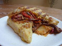 Grilled Rustic Polenta with Chanterelle Pancetta Ragu