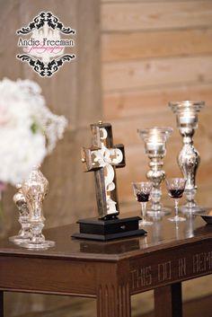 Unity cross. Rustic Barn Wedding. Photography: www.TheAthensWeddingPhotographer.com  Planning, Floral, and Event Design: www.WildFlowerEventServices.com Venue: Antique Acres