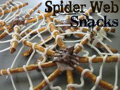 spiderman party food - Spider Web pretzel snacks