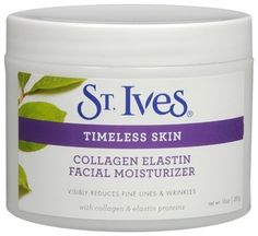St. Ives Timeless Skin Collagen Elastin Moisturizer....LOVE it!  I used to work for Clinique, and I see better results with this!