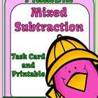 Three Digit Addition Task Cards and Printables Freebie  This packet is part of the bigger pack,  Mixed Subtraction Spring Task Cards and Printables...