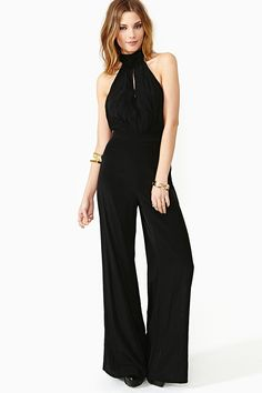 Bianca Halter Jumpsuit- while I haven't been particularly impressed with the jumpsuit fad, I'm kinda digging this one...
