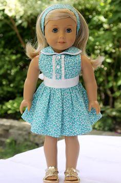 American Girl Doll Summer dress and headband