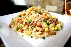 """""""Banquet"""" fried rice - our version of the fried rice that gets served after a big chinese banquet. #friedrice"""
