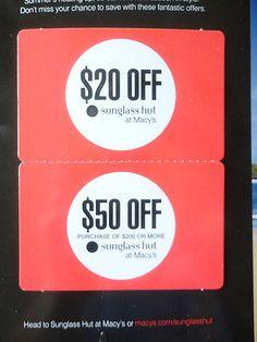 sunglass hut printable coupons 20 off
