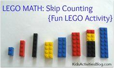 LEGO Math: Skip Counting {Fun LEGO Activity} by Deirdre at Kids Activities Blog Activities Blog, Counting Fun, Activities For Kids, Skip Counting, Lego Learning, Lego Math, Kids Activities, Lego Activities, Fun Lego