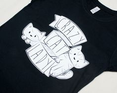 LARGE Ladies  Black Crazy Cat Lady Tshirt by Doodlecats on Etsy, £12.00