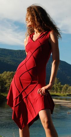 Sleeve Goddess Of the galaxy dress. $120.00, via Etsy.
