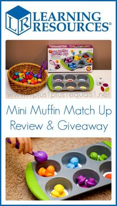 Learning Resources Mini Muffin Match Up Review & Giveaway from @{1plus1plus1} Carisa {giveaway ends 3/26/14}