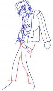 How to draw Michael Jackson
