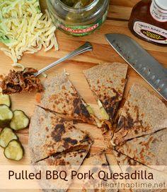 Pulled BBQ Pork Quesadillas...yummy!