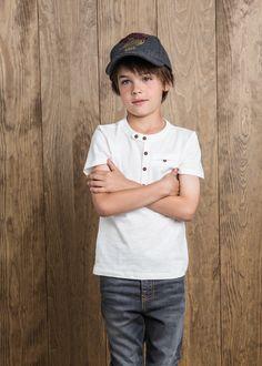Henley t-shirt #MANGOKids #FW14 #Kids