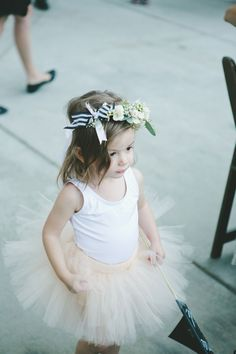boho flower girl, photo by Jenavieve Belair http://ruffledblog.com/glam-ace-hotel-wedding #flowergirls #wedding