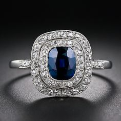 French Belle Époque Sapphire and Diamond Ring