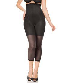 SPANX In-Power Line High-Waist Footless Pantyhose Hosiery Shapewear 912 at BareNecessities.com. Size E in cocoa or black - tell my husband. Remind him my birthday is in les than a month.