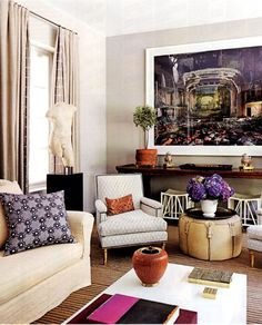nice mix decor, interior design, chair, living rooms, colors, hous, monte carlo, live room, design blog