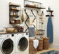 very cool laundry room