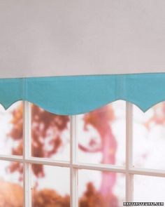 Window Shade with Leather Border - with different colors, might this be an option at my office