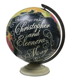 Customizable globe, perfect for a special anniversary or wedding gift. globe, wedding gifts
