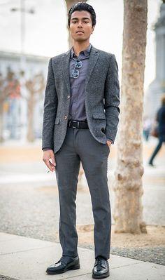 Lookbook user Josh W.   Topman Blazer/Shirt/Trousers, Retrosuperfuture Sunglasses, Muji Belt, Alden Shoes   #WorkItWednesday #Alden Shoes are available on www.TheShoeMart.com