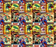 Superman fabric by retropopsugar on Spoonflower - custom fabric
