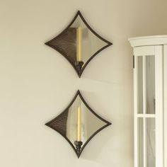 Antiqued Mirror Sconce - Mirrored Sconces, Etched Sunburst Lighting