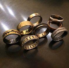 boy bands! #menswedding #wedding #rings #mensbands