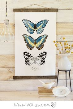 Vintage Inspired Science Posters - LEPIDOPTERA VOL 2