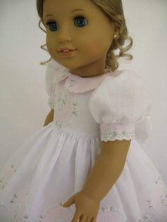 American Girl Doll Clothes White and Pink Shadow by MyAngieGirl