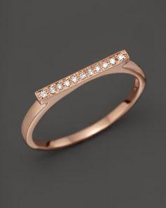 Dana Rebecca Designs Diamond Sylvie Rose Ring in 14K Rose Gold