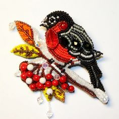 embroideri brooch, inspir beadwork, amaz brooch, bead embroideri, bead jewelri