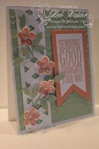 Lattice Card using the Chevron Punch with Deb Valder www.stampladee.stampinup.net