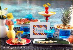color your summer party-pool party fun