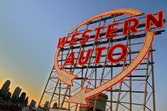 Western Auto sign: photo by Joseph Pollock
