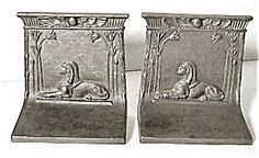 Bradley & Hubbard Cast Iron Sphinx Bookends