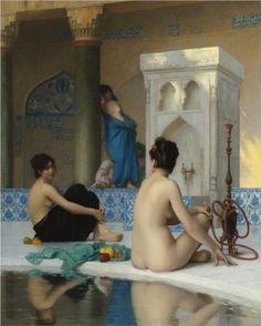 After the Bath - Jean-Leon Gerome