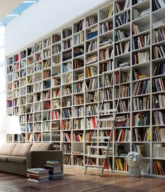 Amazing bookshelves... via @Organized Interiors