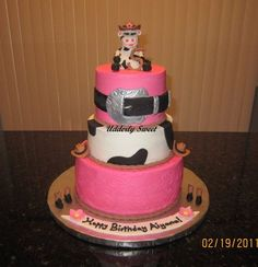 Google Image Result for http://cakesdecor.com/assets/pictures/cakes/14484-438x.jpg cowgirl cake, londyn birthday, cowgirl birthday, birthday cakes
