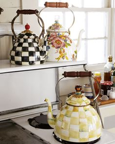 #MacKenzie-Childs #Tea #Kettles at #Horchow #Home #Decor