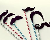 mustache party, moustach, photo booth props, photo props, dinner parties, picture props, paper straws, kid parties, bridal showers