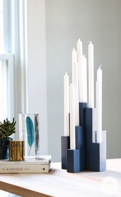 DIY Multiple Taper Candle Holder inspired by Nate Berkus!