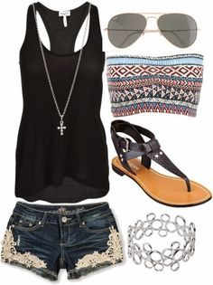 Adorable outfit collection with short and top