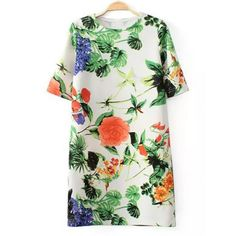 floral tropics dress
