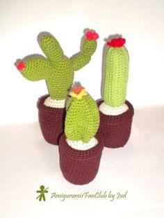 Crocheted by AmigurumisFanClub. Free pattern by Tejiendo Peru !!! http://www.tejiendoperu.com/amigurumi/cactus-nopal/