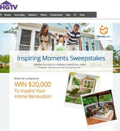 Inspiring Moments Sweepstakes #homesdotcom #contest