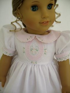 American Girl Doll Clothes White and Pink Shadow