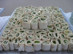 Pin wheels like these are so easy to make and will feed a lot of people for very little $$